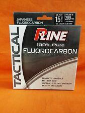 P-LINE Tactical 100% Fluorocarbon Fishing Line 15lb (200yd) #PTFL200-15
