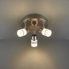 ENDON SATURNO Faretto Lampadario a soffitto cromo spazzolato finitura 3x4W LED