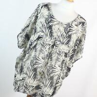 H&M Womens Size 8 Black Floral Top