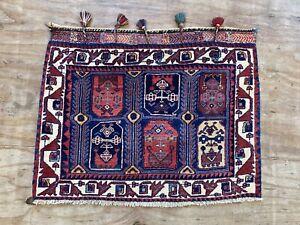 Vintage  hand woven Sir Jan Bag Face Rug