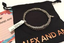 Bangle Bracelet Eve Metal Wrap Antique $58 Nwt New Alex And Ani Rafaelian Silver