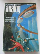 KELLY FREAS COVER SIGNED ANALOG MAGAZINE 1969-04 REYNOLDS MCCORD KLEINE VG s