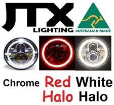 """7"""" Chrome Headlights RED WHITE Austin Healey Sprite A30 Bugeye Frogeye Mk1 Mk2"""