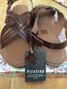 Womens Firetrap Leather Shoes Sandals - Size UK 6, EU 39, New