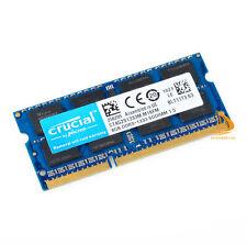 RAM Crucial DDR3 8GB 2Rx8 PC3-10600S 1333Mhz SODIMM Laptop 1.5V 204Pin Memory @d