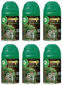 Air Wick Air Freshener Automatic Spray Refill Woodland Pine Scent - 6 Pack