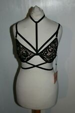Missguided Guipure Bra Black Size UK 8 Dh093 GG 12