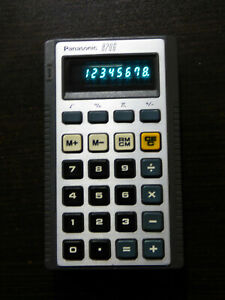 VINTAGE PANASONIC 8206 CALCULATOR TESTED!