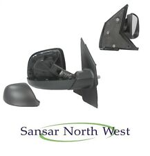 VW Transporter T5 Caravelle Drivers Door Mirror Manual Black Textured O/S RIGHT