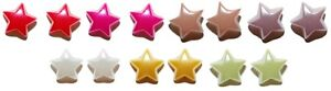 "MINI 3/8"" PEARL STAR STUD EARRINGS - 7 COLORS - U PICK"