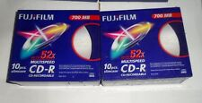 20 x Fujifilm CD-R with Slim Cases 700MB - 52x Speed - Twin Pack ( 2 x 10 Discs)