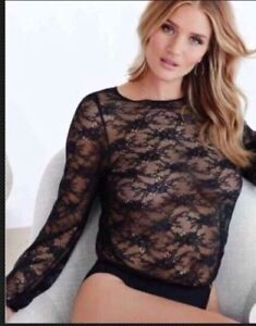 AUTOGRAPH M & S BLACK LACE BODYSUIT ALL IN ONE  UK 12 NEW