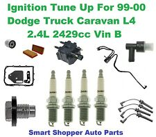 Ignition Tune Up For 99-00 Dodge Truck Caravan L4 Ignition Coil, Spark Plug, Fil