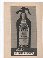 Pubblicità vintage STOCK COGNAC LIQUORE WINE ITALY advert werbung publicitè