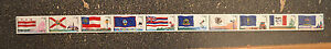 2008USA #4283-4292  42c  Flags Nation Series 2  Plate Number Coil Strip 10 PNC