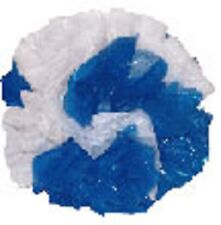 "25 Car Limo wedding Decoration Plastic Pom Poms Flower 4"" - royal blue and white"