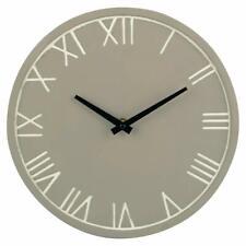 Design Modern Wall Clock Made of Concrete in Grey - Night Illuminated Ø 28cm
