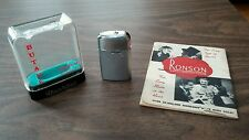 Vintage Ronson Varaflame Windlite Butane Lighter with Case and Paperwork