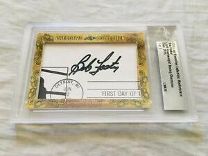 Bob Foster 2018 Leaf Masterpiece Cut Signature autographed signed card 1/1 JSA