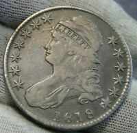 1818 Capped Bust Half Dollar 50 Cents -  Nice Coin, Free Shipping (9749)