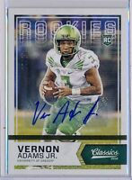 VERNON ADAMS JR. - 2016 Panini Classics Gold SP Rookie AUTO /10 -Oregon RC