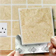 18 Sandstone Stick On Self Adhesive Wall Tile Stickers For Kitchen & Bathroom