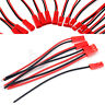 New 10 Pairs 2-Pin JST Plug Connector Cable Wire Male + Female 100mm MA