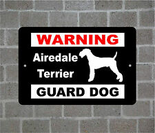 Airedale Terrier warning GUARD DOG breed metal aluminum sign
