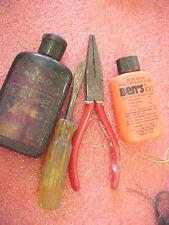 F5 Lot tackle box tools needle nose plier screwdriver fishing scent bug repellen