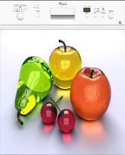 Sticker lave vaisselle électroménager déco cuisine Fruits 60x60cm réf 035
