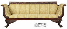 SWC-A Carved Mahogany Classical Sofa with Dolphins, c.1810, NY