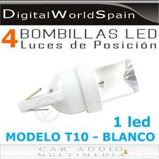 PACK DE 4 BOMBILLAS LED MODELO T10 DE 1 LED LUZ BLANCA LUCES DE POSICION COCHE