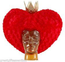 Red Queen of Hearts Crown Wig Hat Alice in Wonderland DISNEY Carter LICENSED New