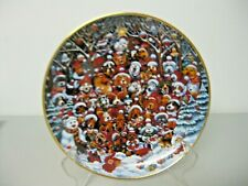 Franklin Mint Santa Paws by Bill Bell Limited Edition Collector's Wall Plate