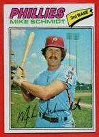 1977 Topps #140 Mike Schmidt NEAR MINT+ HOF Philadelphia Phillies FREE SHIPPING