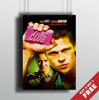 FIGHT CLUB MOVIE POSTER A3 / A4 SIZE * Glossy High Quality Art Print * Brad Pitt