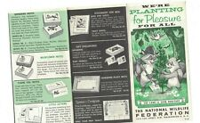 National Wildlife Federation 1960 Brochure We're Planting Pleasure for All