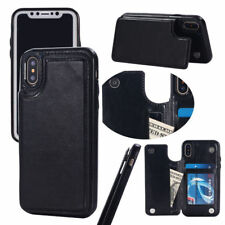 IPhone X Wallet Case with Card Holder Shockproof Double Magnetic Clasp
