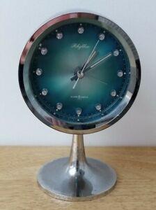 Vintage Retro Rhythm Alarm Clock On Stand Space Age