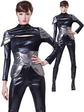 Futuristic Spy Ladies Costume Adults Sexy Superhero Fancy Dress Womens Outfit