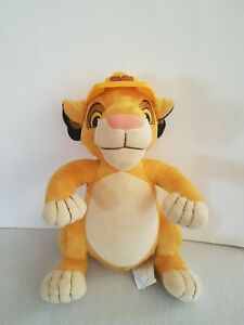 Disney The Lion King 13 Inch Simba Soft Plush Toy With Hard Hat