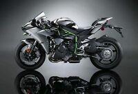 1/18 Maisto Kawasaki H2R Black Motorcycle Diecast Model Removable Base Wheel Toy