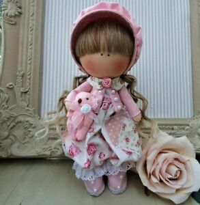 Rag doll handmade in the UK Tilda doll Ooak doll Art doll ROSE MARIE 8 inch tall