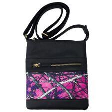 Muddy Girl Camo Crossbody Purse, Camouflage Handbag Pink Purple