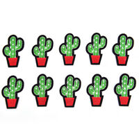 Lot 5Pcs Cactus Patch for Cloth Iron on Embroidered Sew Applique Fabric Badge CA