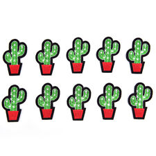 Lot 5Pcs Cactus Patch for Cloth Iron on Embroidered Sew Applique Fabric Badge HF