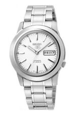 Seiko Automatic SNKE49 SNKE49K1 Men White Dial Day Date Stainless Steel Watch