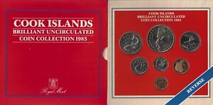 Cook Islands 1983 UNCIRCULATED Set Dollar to Cent Royal Mint (MD)