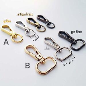 Lobster Swivel Bag Handbag Purse Shoulder Strap Belt Clasp Clip Buckle Trigger