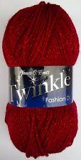 James Brett Twinkle Double Knit Yarn 100g Acrylic Glitter Knitting Claret TK20